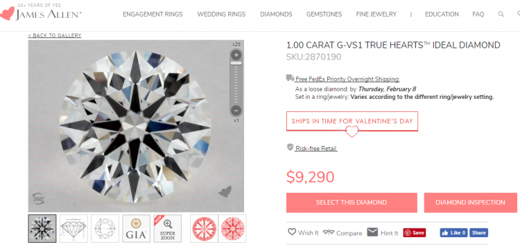 James Allen True Hearts Review Are they the best diamonds online