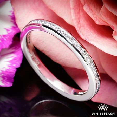 Whiteflash Platinum Honey Channel-Set Diamond Wedding Ring