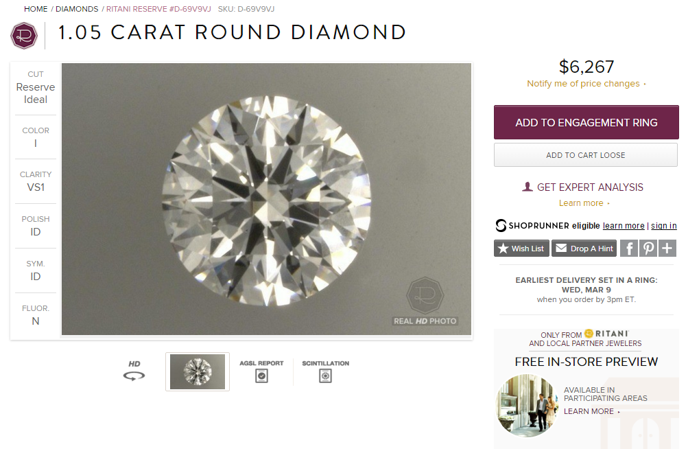 Ritani Diamond Image
