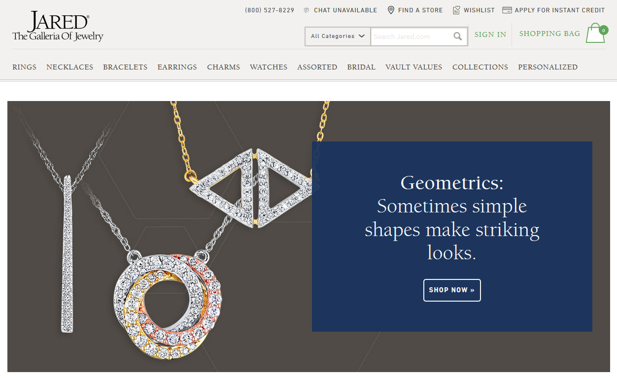 Jared Jewelers Homepage