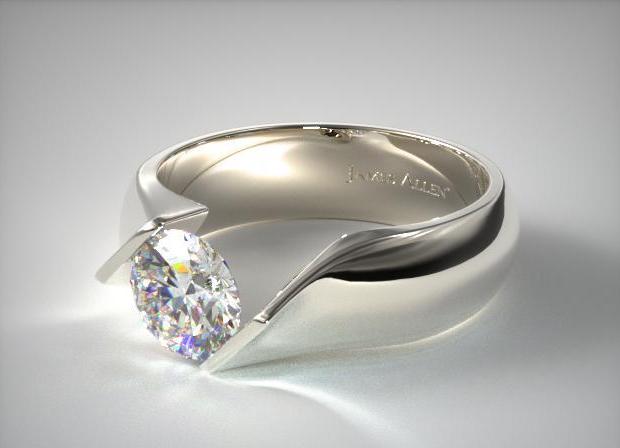 James Allen 14K White Gold Contoured Twist Engagement Ring