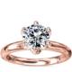 Monique Ihuillier petal solitaire engagement ring rose gold