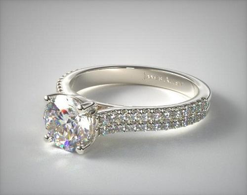pave diamond ring - james allen