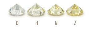 a row of loose GIA diamonds