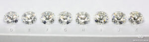 a collection of diamonds graded from D to K