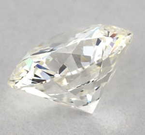 side view of an H color diamond